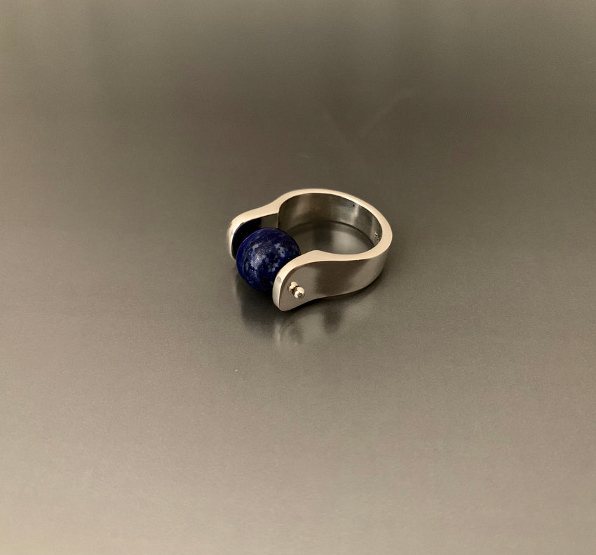 Ring Sterling Silver Lapis