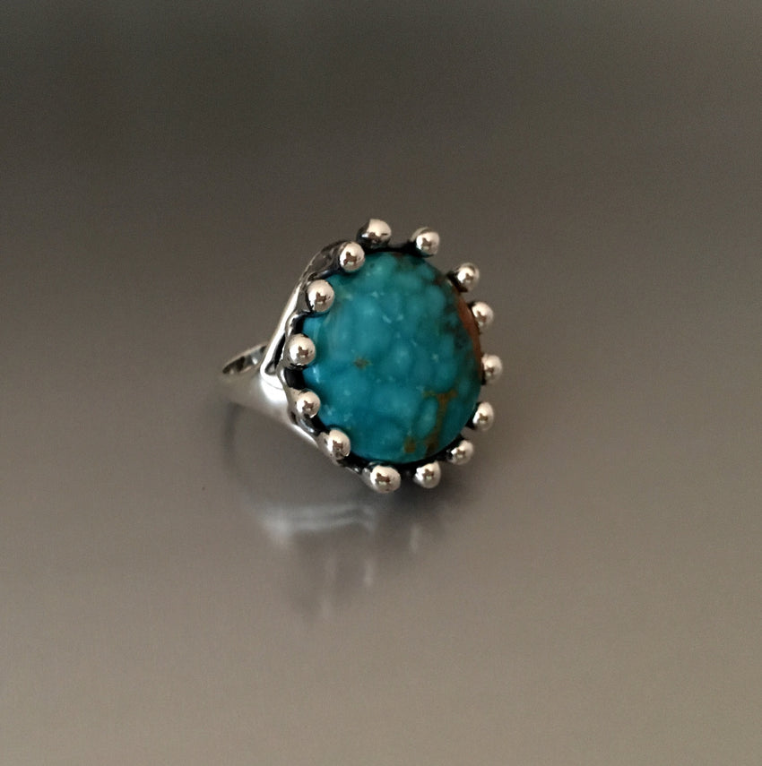 Sterling Silver Ring with Turquoise Mountain Turquoise