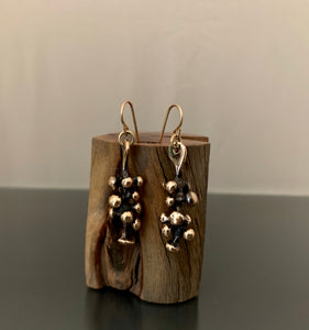 Earrings Bronze Mini Grapevine