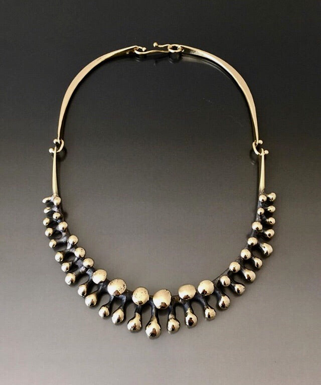Boyd Necklace Bronze with Bubbles