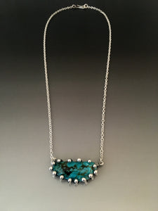 Sterling Silver Turquoise Claw Necklace - JACK BOYD ART STUDIO and RON BOYD DESIGNS