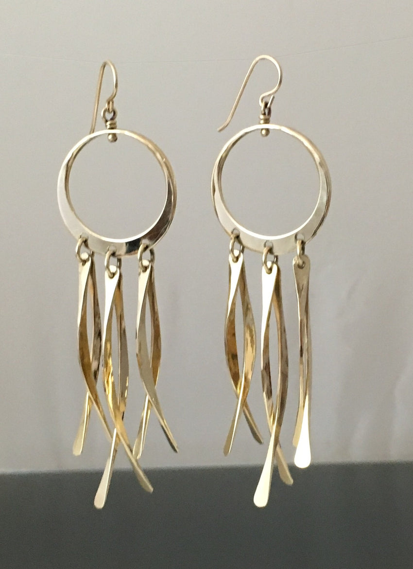 "Earrings ""Dream Catcher"" 14k gold - JACK BOYD ART STUDIO and RON BOYD DESIGNS"