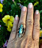 Bronze No 8 Turquoise Ring
