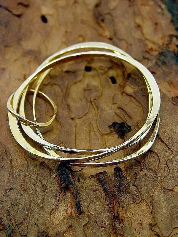 Bracelets Bronze Triple with dangle - JACK BOYD ART STUDIO and RON BOYD DESIGNS