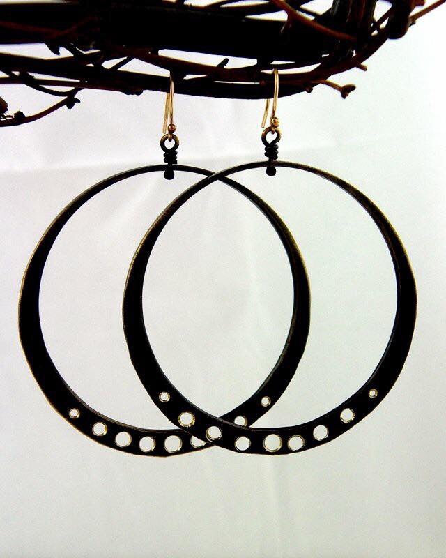Antiqued Bronze Large Loops - JACK BOYD ART STUDIO and RON BOYD DESIGNS