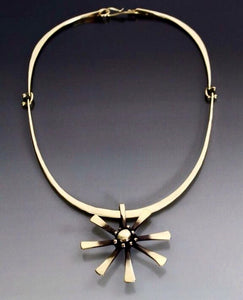 Necklace Bronze Starburst