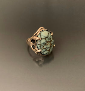 Ring Organic Bronze with Variscite