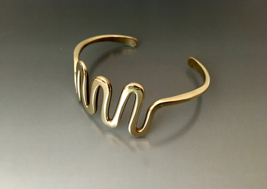 Bracelet Bronze Zig Zag Cuff - JACK BOYD ART STUDIO and RON BOYD DESIGNS