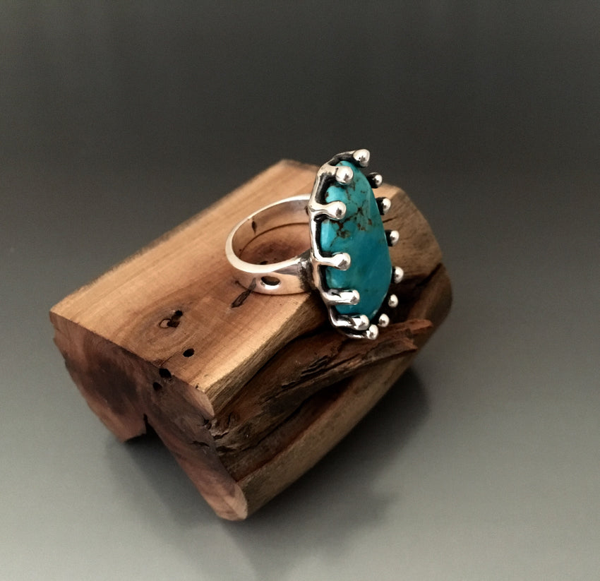 Sterling Silver with Kingman Turquoise