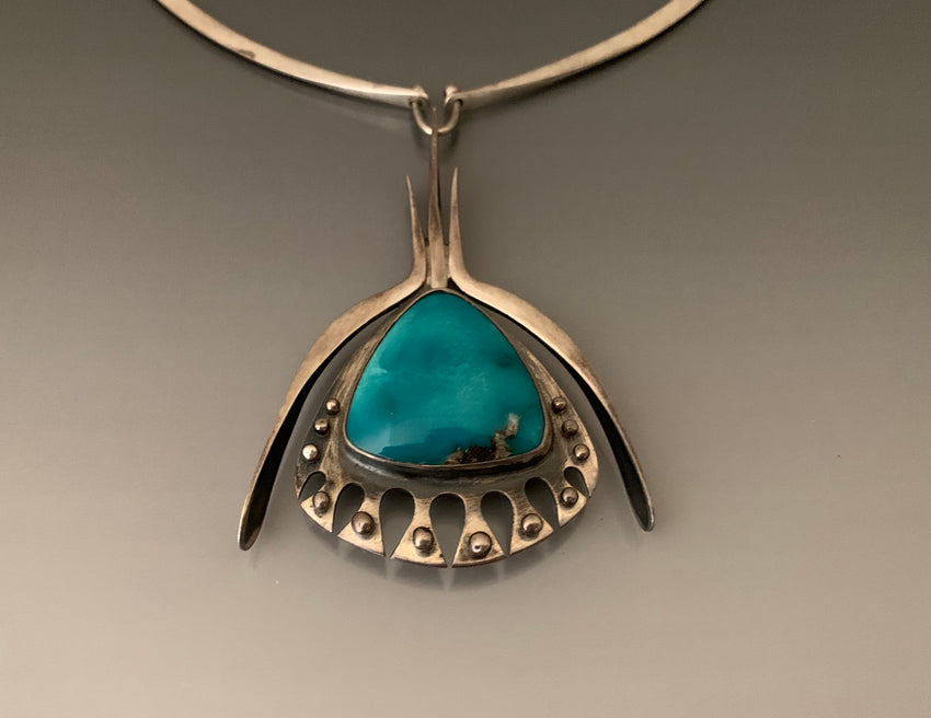 Vintage Jack Boyd Sterling Silver Turquoise Necklace