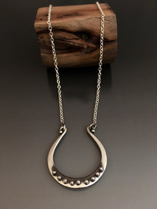 Lucky Horse Shoe Sterling Silver Necklace