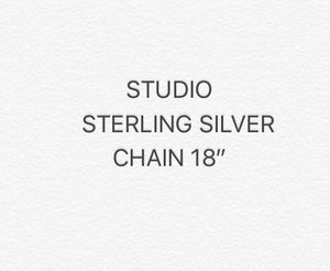 CHAIN STERLING SILVER 18""