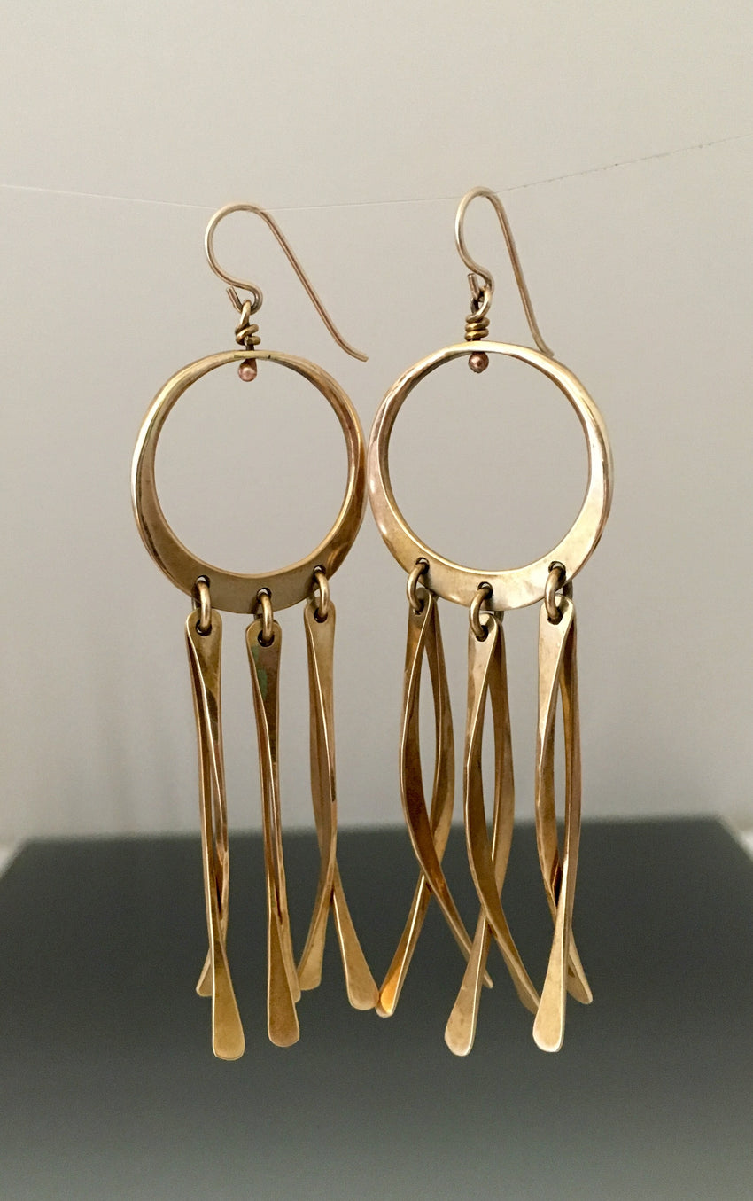 """Dream Catcher"" bronze earrings - JACK BOYD ART STUDIO and RON BOYD DESIGNS"