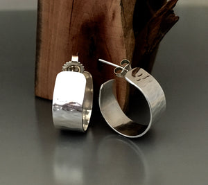 Sterling Silver Cuff Earrings
