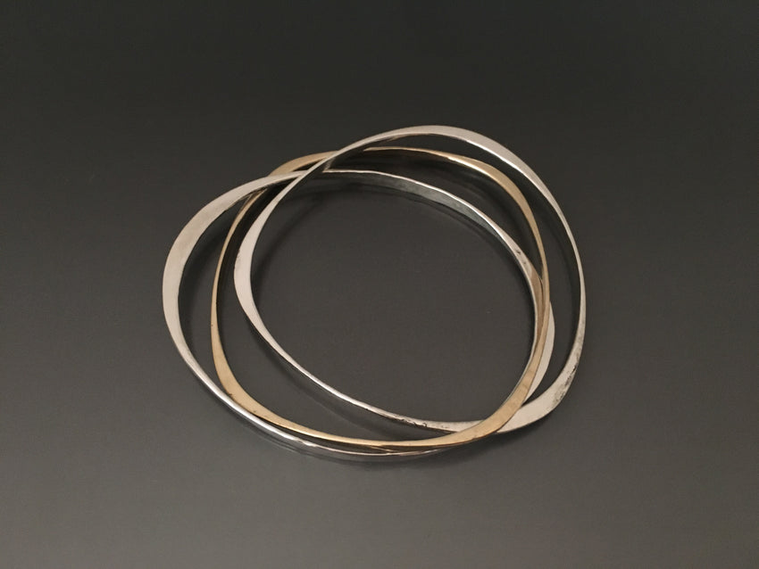 Bracelets Interlocked 14k and Sterling Silver