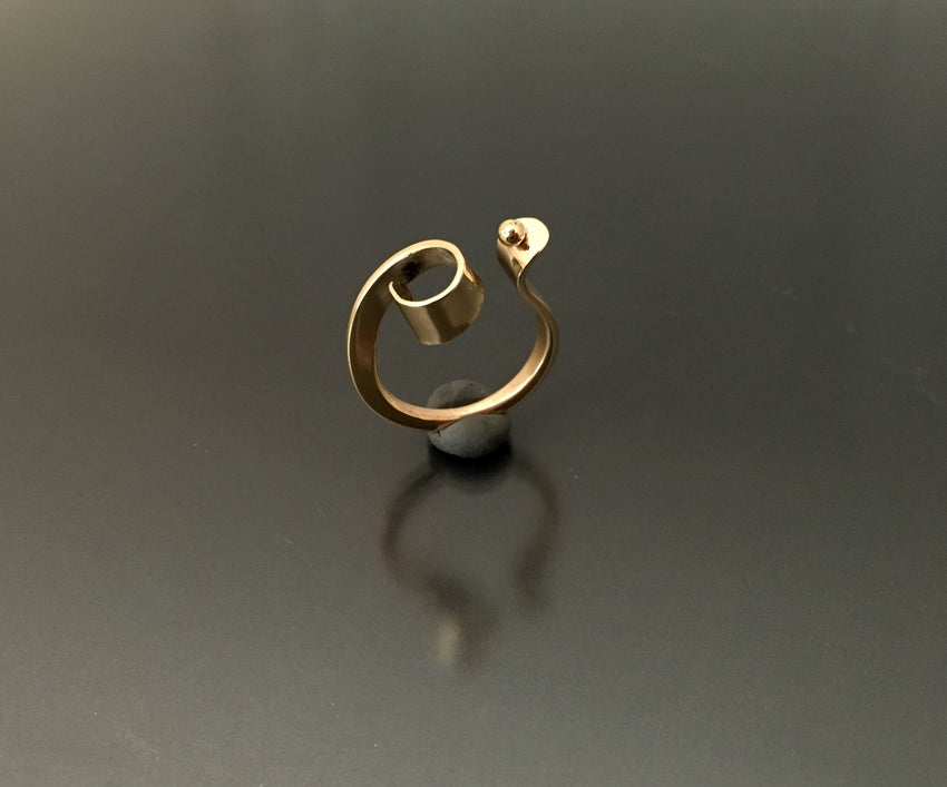 Bronze curl ring - JACK BOYD ART STUDIO and RON BOYD DESIGNS