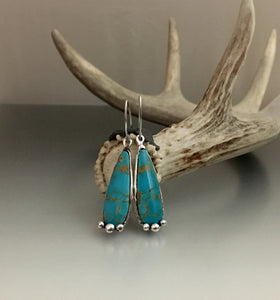 Earrings Sterling Silver and Kingman Turquoise