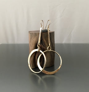 Bronze dangle earrings with medium loop - JACK BOYD ART STUDIO and RON BOYD DESIGNS