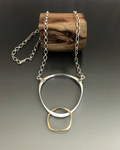 Sterling Silver and 14k Gold Necklace