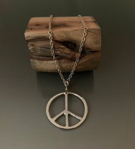 Necklace Sterling Silver Peace Pendant