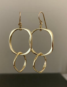 Earrings Bronze double loops