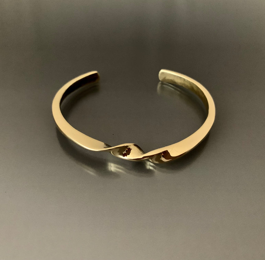 Bracelet Bronze Cuff with Swirl
