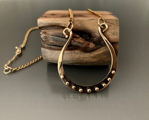 Necklace Bronze Horse Shoe