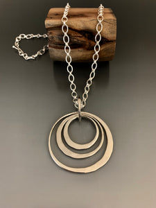 Necklace Sterling Silver Triple Loop