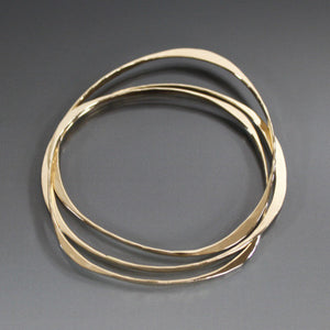Bronze Bracelet with Three Interlocking Shapes - JACK BOYD ART STUDIO and RON BOYD DESIGNS