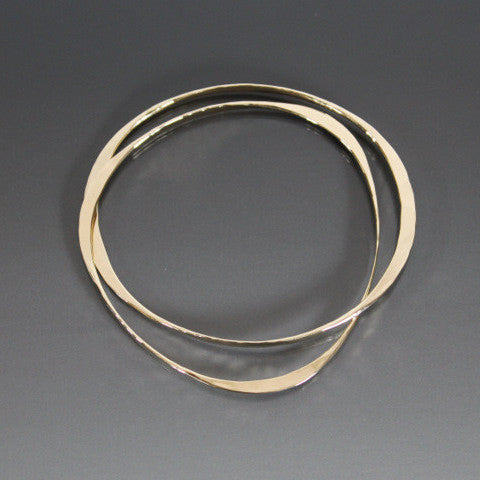 Bronze Bracelet with Two Interlocking Shapes - JACK BOYD ART STUDIO and RON BOYD DESIGNS