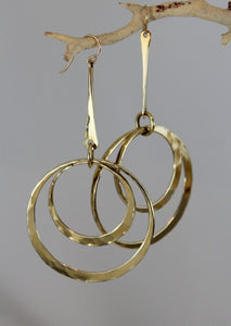 Bronze Dangle Earrings with Double Loops - JACK BOYD ART STUDIO and RON BOYD DESIGNS