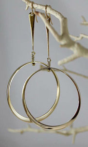 Bronze Dangle Earrings with Large Loop - JACK BOYD ART STUDIO and RON BOYD DESIGNS