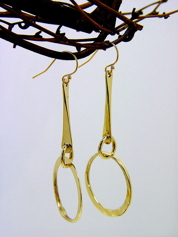 Bronze Dangle Earrings with Small Loop - JACK BOYD ART STUDIO and RON BOYD DESIGNS