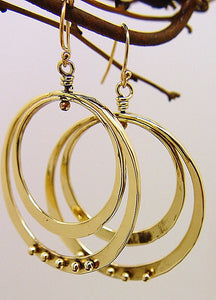 Bronze Double Loop Earrings - JACK BOYD ART STUDIO and RON BOYD DESIGNS