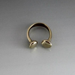 Bronze Hand Forged Horse Shoe Shape Ring - JACK BOYD ART STUDIO and RON BOYD DESIGNS