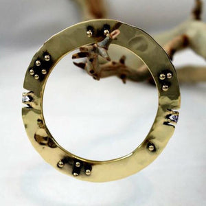 Bronze Large Gauge Disk Bracelet - JACK BOYD ART STUDIO and RON BOYD DESIGNS
