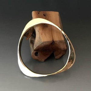 Bronze Large Gauge Triangle Shape Bracelet - JACK BOYD ART STUDIO and RON BOYD DESIGNS