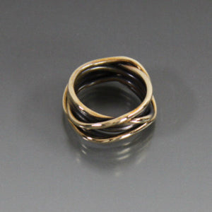 Bronze Organic Wrap Ring - JACK BOYD ART STUDIO and RON BOYD DESIGNS