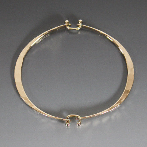 Bronze Oval Hinged Bracelet - JACK BOYD ART STUDIO and RON BOYD DESIGNS