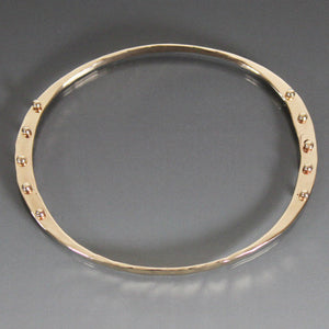 Bronze Oval Shape Bracelet with Peg Accent - JACK BOYD ART STUDIO and RON BOYD DESIGNS