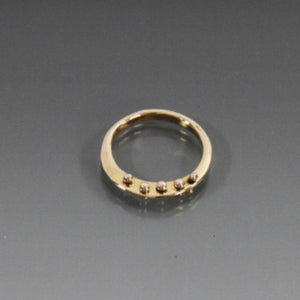 Bronze Ring with Peg Accent - JACK BOYD ART STUDIO and RON BOYD DESIGNS