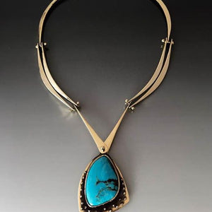 Hand Forged Bronze Double Bar Necklace - JACK BOYD ART STUDIO and RON BOYD DESIGNS