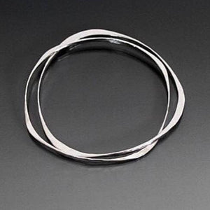 Sterling Silver Bracelet with Two Interlocking Shapes - JACK BOYD ART STUDIO and RON BOYD DESIGNS