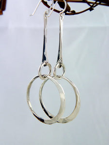 Sterling Silver Dangle Earrings with Small Loop - JACK BOYD ART STUDIO and RON BOYD DESIGNS