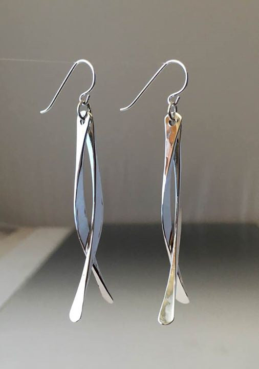 Sterling Silver Double Dangle Earrings - JACK BOYD ART STUDIO and RON BOYD DESIGNS