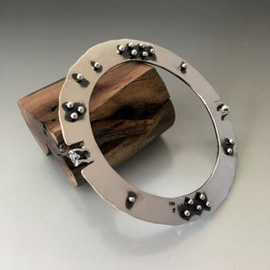 Sterling Silver Large Gauge Disk Bracelet - JACK BOYD ART STUDIO and RON BOYD DESIGNS