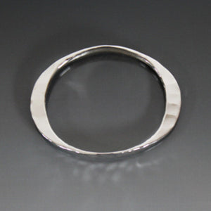Sterling Silver Large Gauge Oval Shape Bracelet - JACK BOYD ART STUDIO and RON BOYD DESIGNS