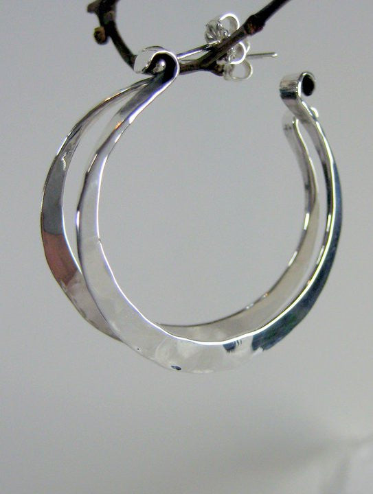 Sterling Silver Looped Shape Earrings - JACK BOYD ART STUDIO and RON BOYD DESIGNS