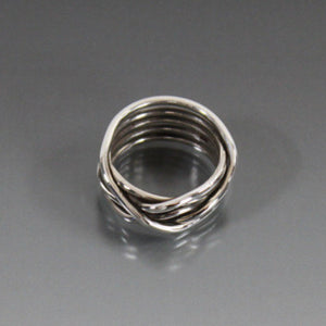 Sterling Silver Organic Wrap Ring - JACK BOYD ART STUDIO and RON BOYD DESIGNS