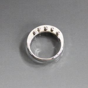 Sterling Silver Ring with Peg Accent - JACK BOYD ART STUDIO and RON BOYD DESIGNS